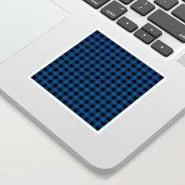 Plaid (blue/black) Sticker