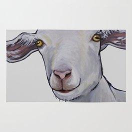 Cute Goat Art, Goat art in neutrals Rug