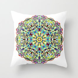 Beautiful Chrystal Glass Mandala Throw Pillow