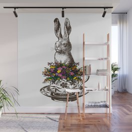 Rabbit in a Teacup Wall Mural