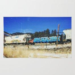 Blue Graffiti Rug