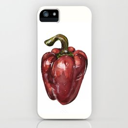 Red Bell Pepper iPhone Case