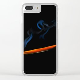 47- matchstick & flame Clear iPhone Case