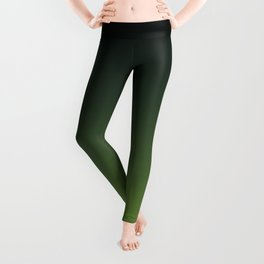 Ombre | Charcoal Grey and Lime Green Leggings