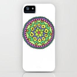 Bright colors mandala iPhone Case