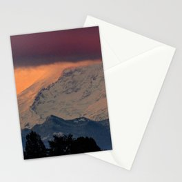Autumn Morning Light on Mount Rainier Stationery Cards