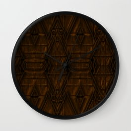 Coppery African Pyramid Wall Clock