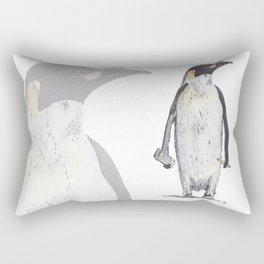 Penguin Accountant  Rectangular Pillow