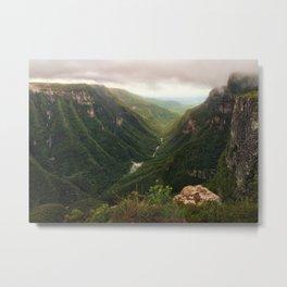 Canyon of Waterfalls Metal Print