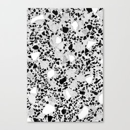 Real Terrazzo Stone Marble Concrete Mix Pattern Canvas Print