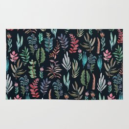 water color leaves color leaves Rug