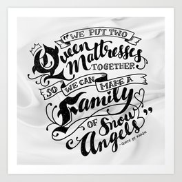 Family Of Snow Angels Art Print