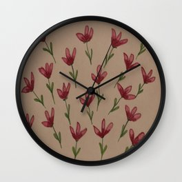Scattered Flowers Wall Clock