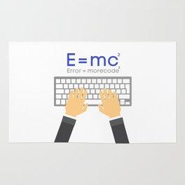 E=mc programmer joke shirt Rug