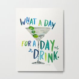 What a Day for a Day Drink – Blue & Green Palette Metal Print