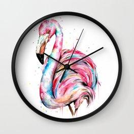 Flamingo Splash Wall Clock
