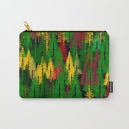 autumn fir forest Carry-All Pouch