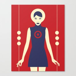 Isolde Red Canvas Print