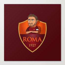 TOTTI ROMA Canvas Print