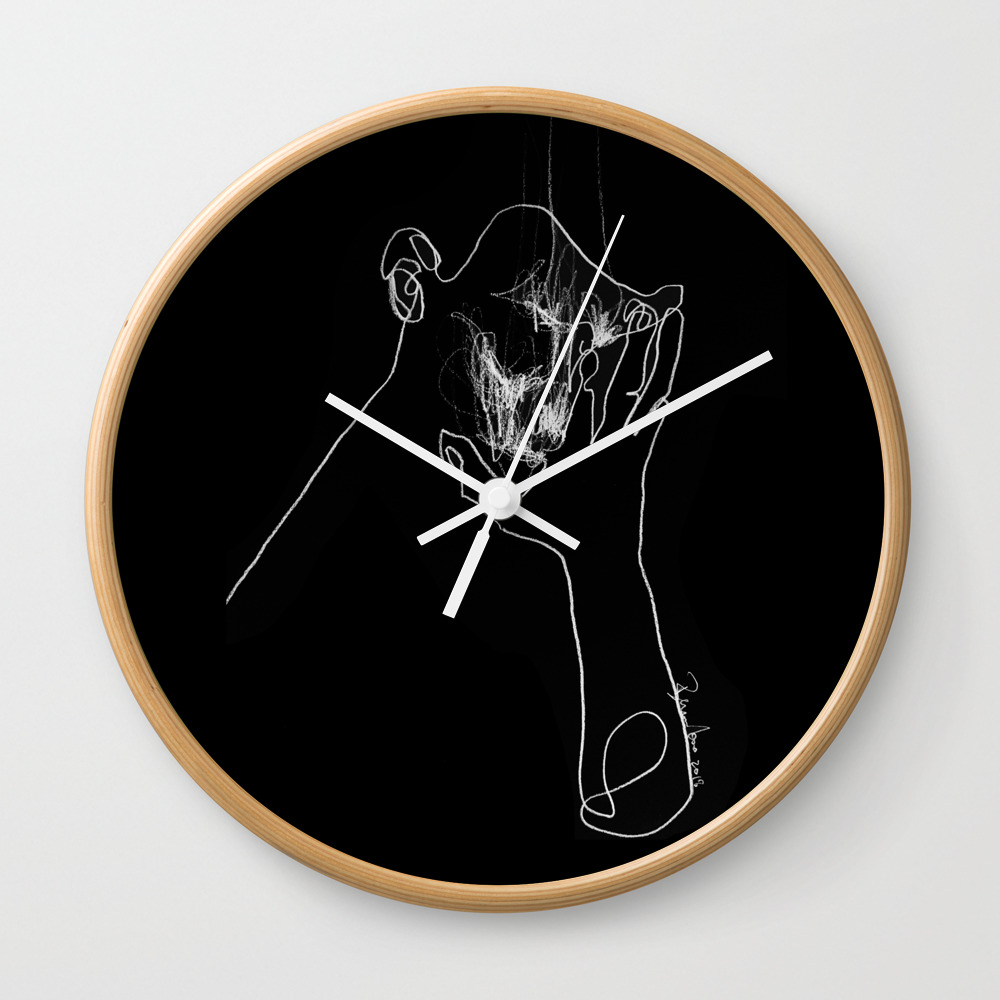 As Tears Go By Wall Clock by Bensonkoo CLK9098676