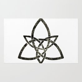 Rustic Celtic Knot Rug
