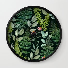 Pacific Northwest Plants Wall Clock