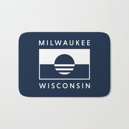 Milwaukee Wisconsin - Navy - People's Flag of Milwaukee Bath Mat