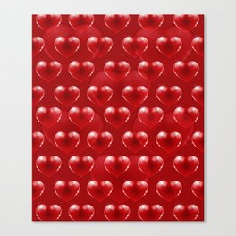 Red glass heart Canvas Print