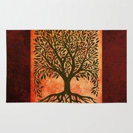 Tree Of Life Warm Tones Rug