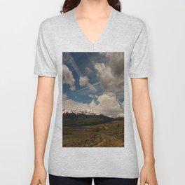 Dramatic Sky Over Twin Lakes Colorado Unisex V-Neck