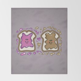 PBJ Sandwich Throw Blanket