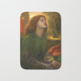 Beata Beatrix by Dante Gabriel Rossetti, 1864 Bath Mat