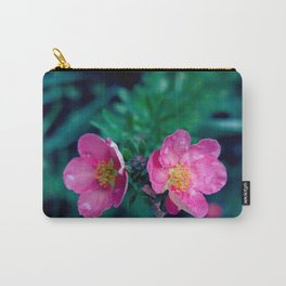 WET PINK BLOSSOMS Carry-All Pouch