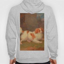 dog painting Blenheim spaniel Hoody