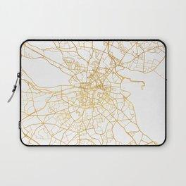 DUBLIN IRELAND CITY STREET MAP ART Laptop Sleeve