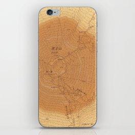 擬木富士 Map camouflaged as wood grain. iPhone Skin