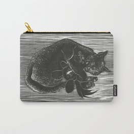 Cat with Voodoo Doll Carry-All Pouch