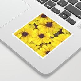 The yellow flowers Sticker