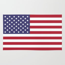 USA flag - Hi Def Authentic color & scale image Rug