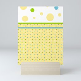 Yellow, With Dots Mini Art Print