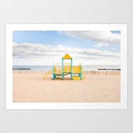 Coney Island Playground Art Print
