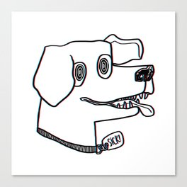sick dog! Canvas Print