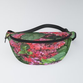 mixed flowers and leaves Fanny Pack