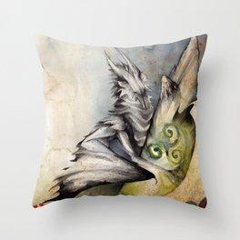 Celtic Keeper Dragon Throw Pillow