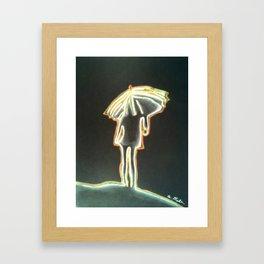 Girl with Umbrella Framed Art Print