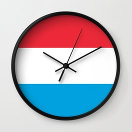 Flag: Luxembourg Wall Clock