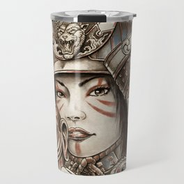 Peacock Samurai Travel Mug