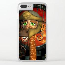 Funny giraffe Clear iPhone Case