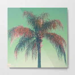 Red palm tree Metal Print