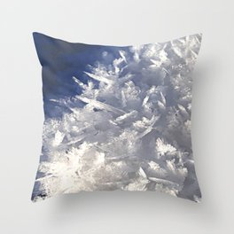 Cloud of ice crystals Throw Pillow